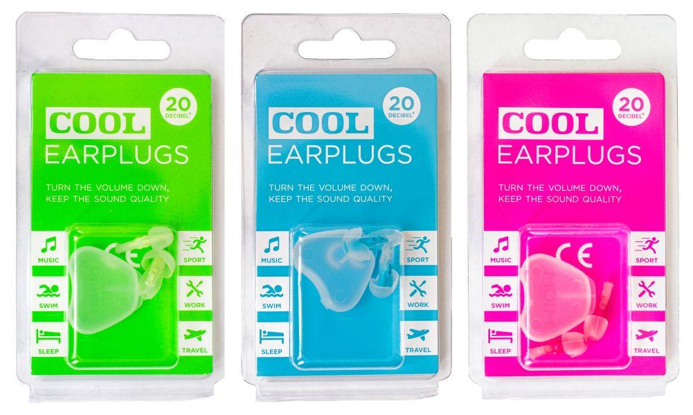 3 verpakkingen Cool-earplugs