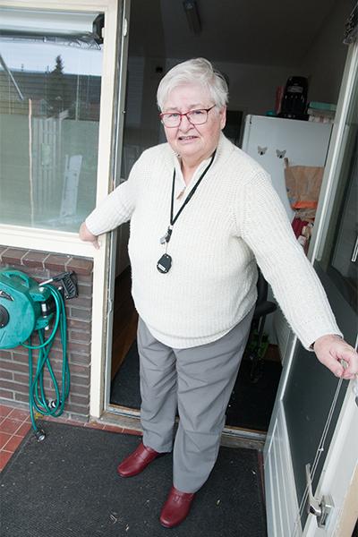 Greet Haverland in deuropening