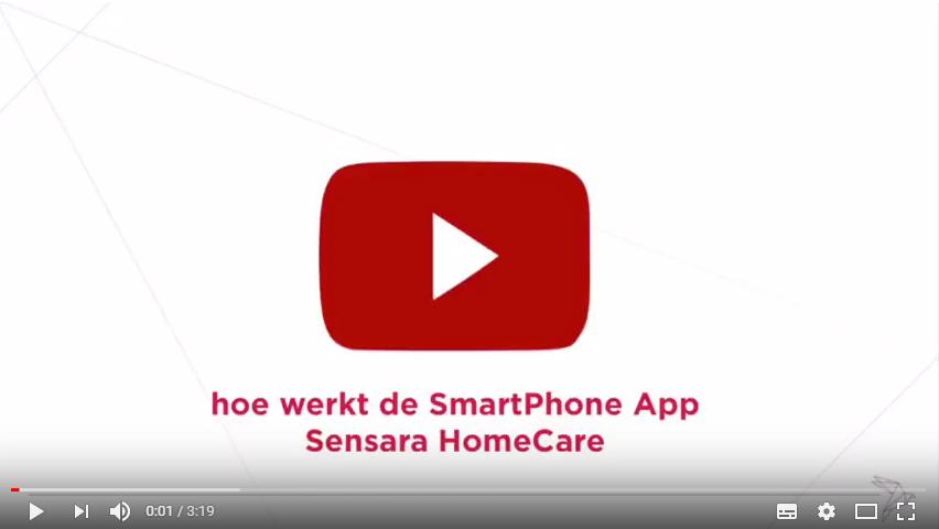 Hoe werkt de smartphone app Sensara HomeCare?
