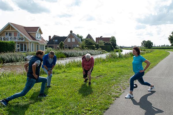 Imagine Run - Deelnemers trainen onder aanvoering van Gerard Nijboer