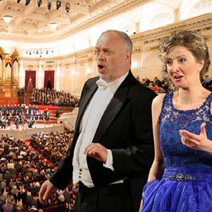 Operazanger en -zangeres in het Concertgebouw