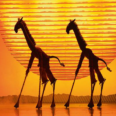 Girafs uit The Lion King